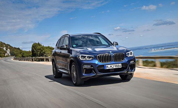 Фото бесплатно BMW X3, синий внедорожник, внедорожники