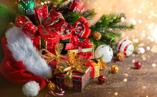 Photo free Christmas style, gifts, elements