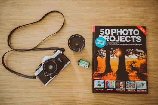 Photo free retro camera, analog, lens