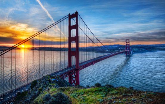 Фото бесплатно золотые, ворота, мост