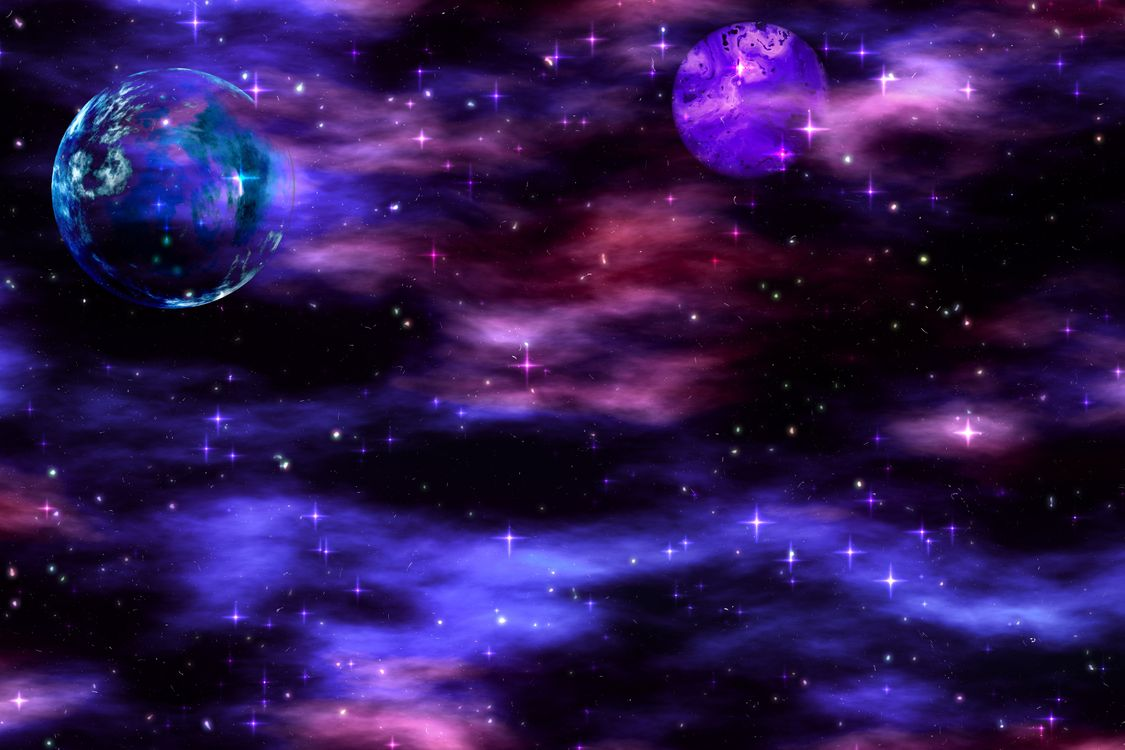 Звездочки и планеты · бесплатное фото