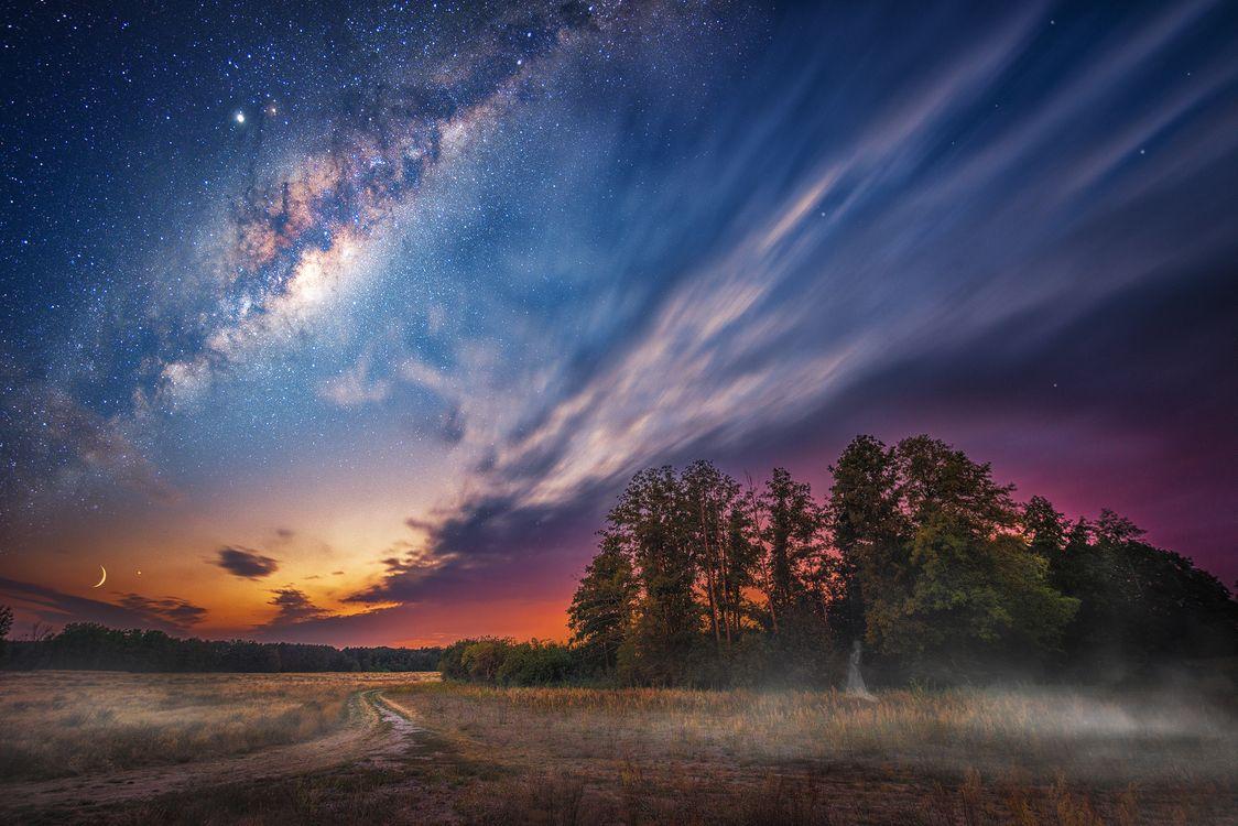 мистический закат · бесплатное фото