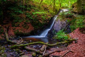 Заставки Sweden, Forsakar waterfall, водопад