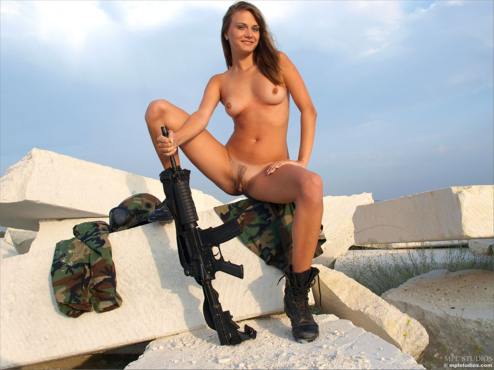 Naked girls in the military video young