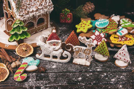 Фото бесплатно рождественское печенье, корица, десерт