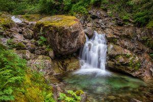 Бесплатные фото лес,река,скалы,камни,деревья,водопад,природа