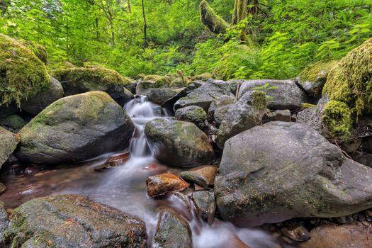 Фото бесплатно Ruckel Creek, Columbia River Gorge, водопад