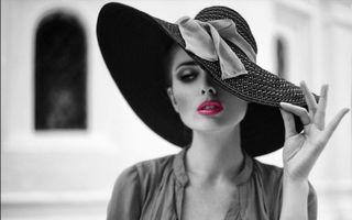 Бесплатные фото шляпка,девушка,макияж,стиль