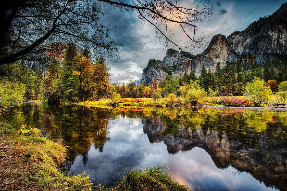 Photos for free Yosemite National Park, Merced river, trees - to the desktop