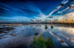 Фото бесплатно озеро, облака, природа