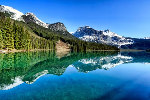 Emerald lake in Canada · free photo