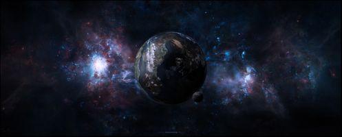 Заставки галактика, горы, планета, снег