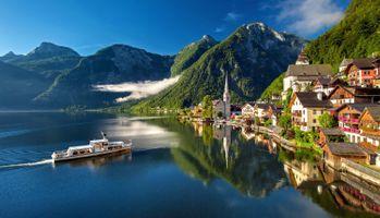 Бесплатные фото Хальштатт,Гальштат,Hallstatt,Австрия