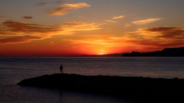 Фото бесплатно горизонт, послесвечение, вечер