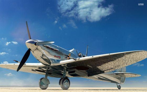 Photo free supermarine spitfire, chrome, airplane