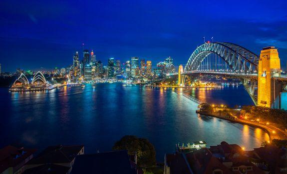 Бесплатные фото Sydney city,New south wales,Australia,ночные города