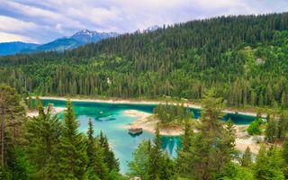 Фото бесплатно Blue Lake, Switzerland, озеро