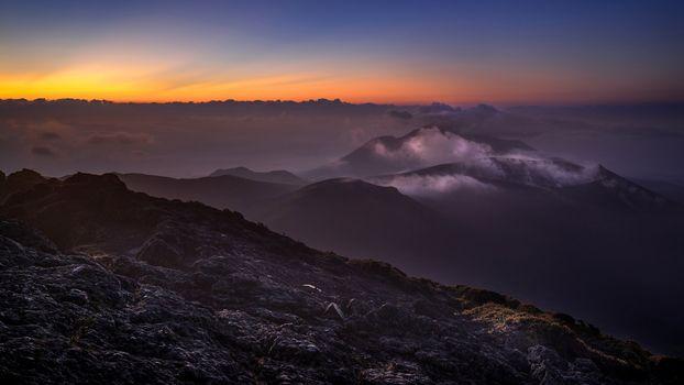 Фото бесплатно закат, гора, живописный