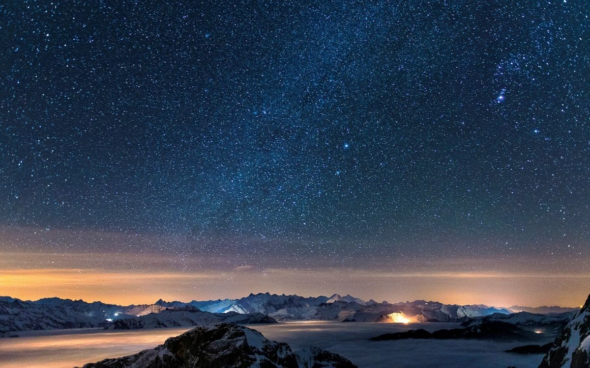 Обои пейзажи, горы, небо картинки на телефон