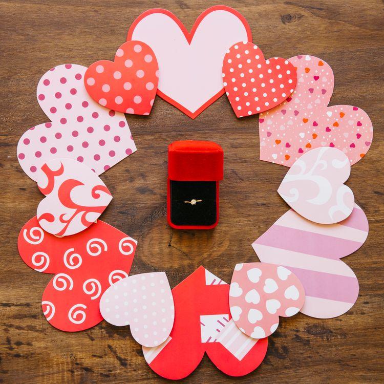 Фото бесплатно сердечки, подарок, коробка - на рабочий стол