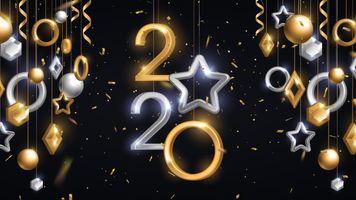 Photo free 2020, new year, stars