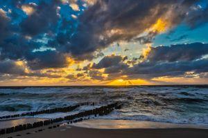 Заставки облака, пляж, берег