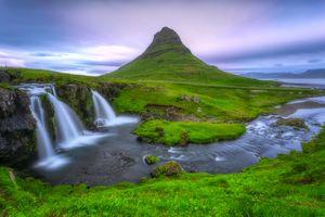 Фото бесплатно Kirkjufellsfoss, Kirkjufell, Исландия