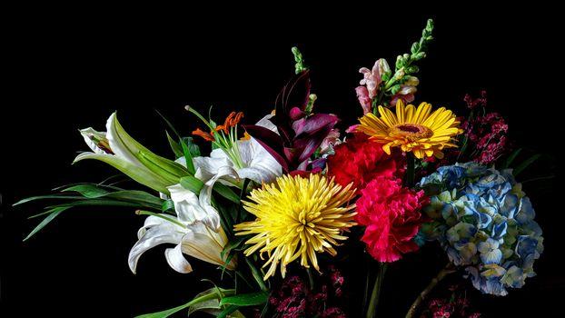 Фото бесплатно цветочный, праздничный букет, цветочная композиция