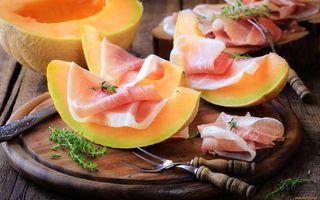 Фото бесплатно арбузы, продукты питания, вилка