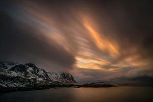 Заставки Норвегия, небо, облака