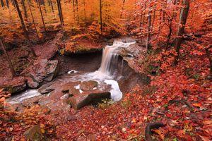 Заставки природа, скалы, цвета осени