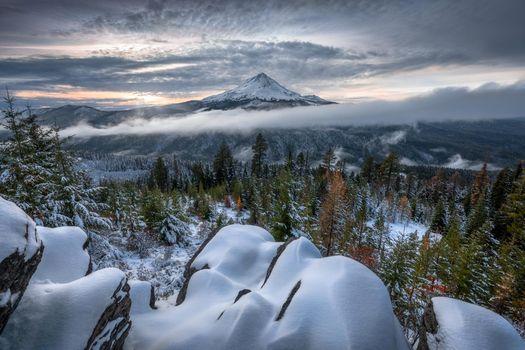 Фото бесплатно Самая высокая гора Орегон Маунт Худ, Mount Hood, Oregon
