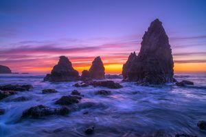 Бесплатные фото San Francisco,море,закат,Сан Франциско,скалы,небо,пейзаж