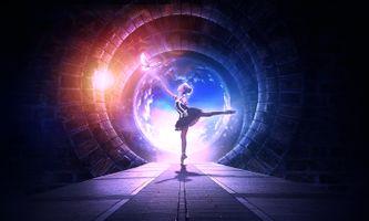 Бесплатные фото балерина,голубь,девочка,танец,свечение,тоннель,арки