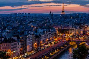 Заставки Франция, Город, Эйфелева башня