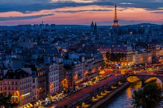 Фото бесплатно Франция, Город, Эйфелева башня