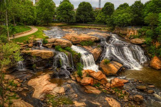 Фото бесплатно река риди, гринвилл, южная каролина