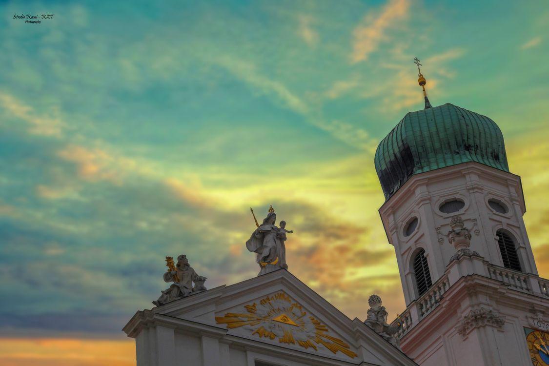Фото бесплатно германия, утро, небо, цвет, церковь, хороший, день, город