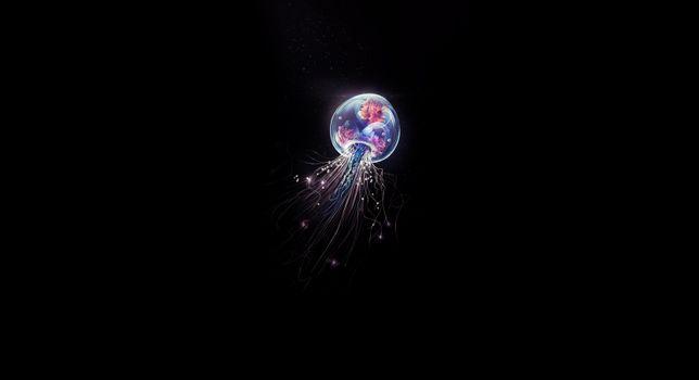 Фото бесплатно медузы, минимализм, исполнитель