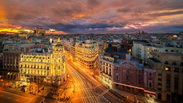 Заставки Испания, дорога, Мадрид