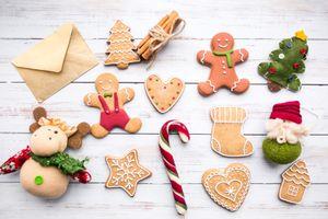 Бесплатные фото печенье,пряники,конфеты,новый год,выпечка,фигурки
