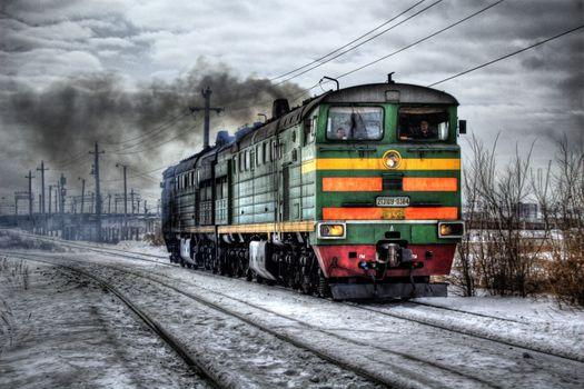 Фото бесплатно двигатель, паровоз, железная дорога