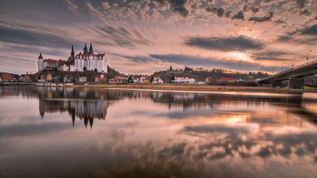 Photo free A view of the castle and the Cathedral of Meissen in Saxony, Saxony, Meissen