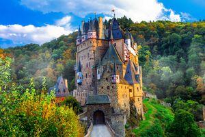 Фото бесплатно река, пейзаж, Замок Эльц