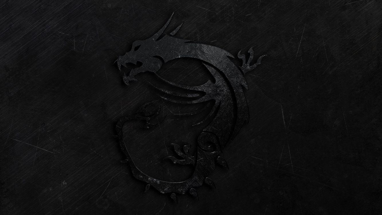 Фото бесплатно дракон, черный, на темном фоне, изображение дракона, символика - на рабочий стол