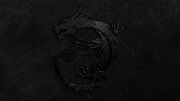Фото бесплатно дракон, черный, на темном фоне