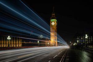 Бесплатные фото England,London,Westminster,Big Ben,ночные города