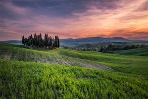 Фото бесплатно Tuscany, Италия, закат