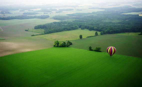 Заставки баллон, воздушные шары, поле