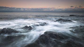 Фото бесплатно океан, горизонт, пена